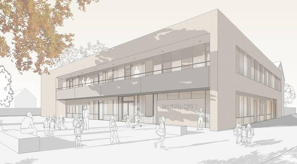 Marienschule: Neubau im November fertig   (RP 08. Februar 2021)